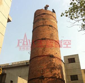 砖烟囱拆除施工
