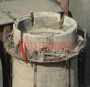 旧混凝土烟囱拆除