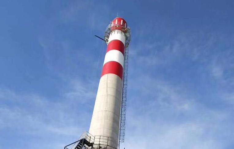 河北兴达建工集团80米高混凝土烟囱