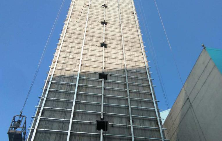 厦门80米混凝土方烟囱工程